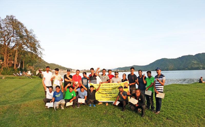 borderlands team building for gorkha brewery